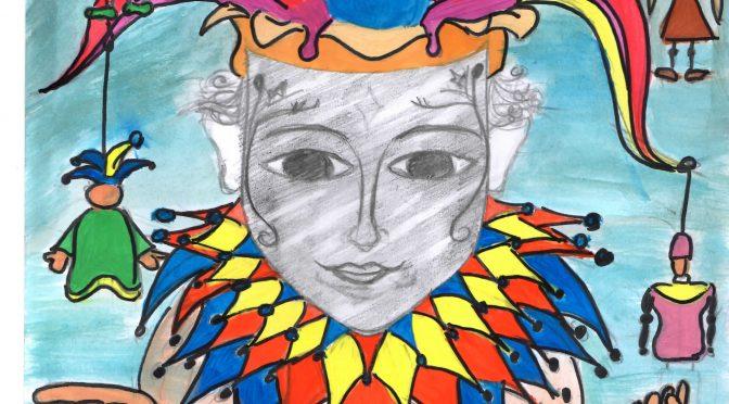Mascottes et affiches créées par les élèves de la VIe classe, LMK Vaslui