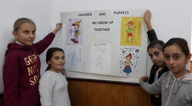Băcani School (Vaslui Dept, Romania) – first steps in the puppets universe